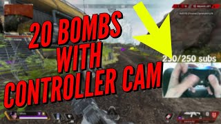 Dropping 20 Kills with a Controller Cam - APEX LEGENDS PS4