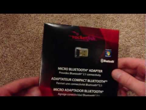 RocketFish Micro Bluetooth Adapter Unboxing/review