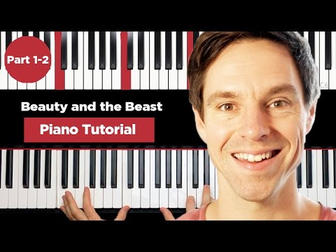 Beauty and the beast - Piano Tutorial - Part 1-2 - How to play piano