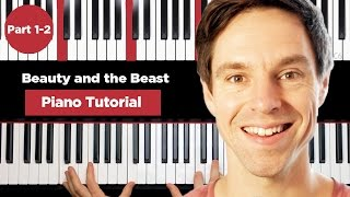 Video Beauty and the beast - Piano Tutorial - Part 1-2 - How to play piano download MP3, 3GP, MP4, WEBM, AVI, FLV Juni 2018