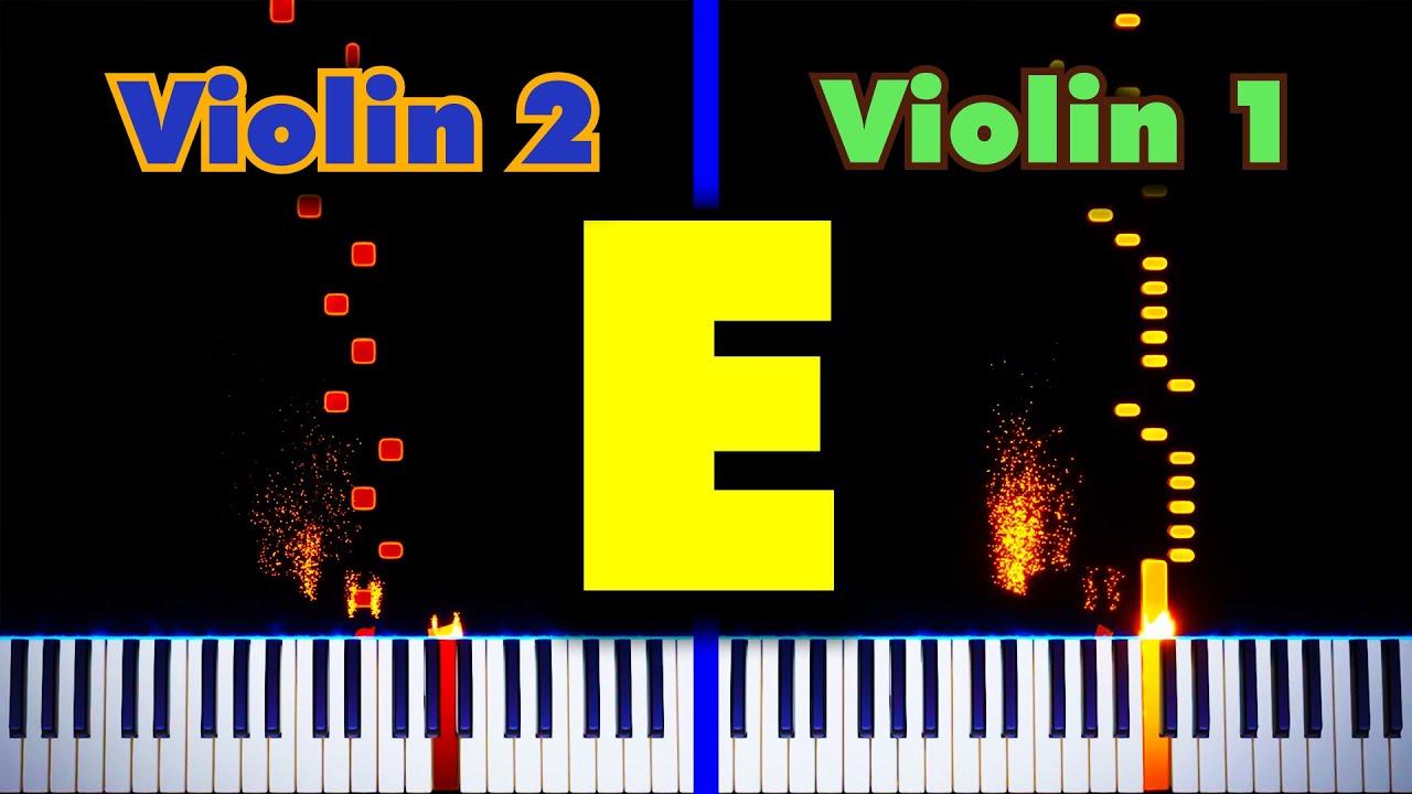 Rush E (for Two Violins)