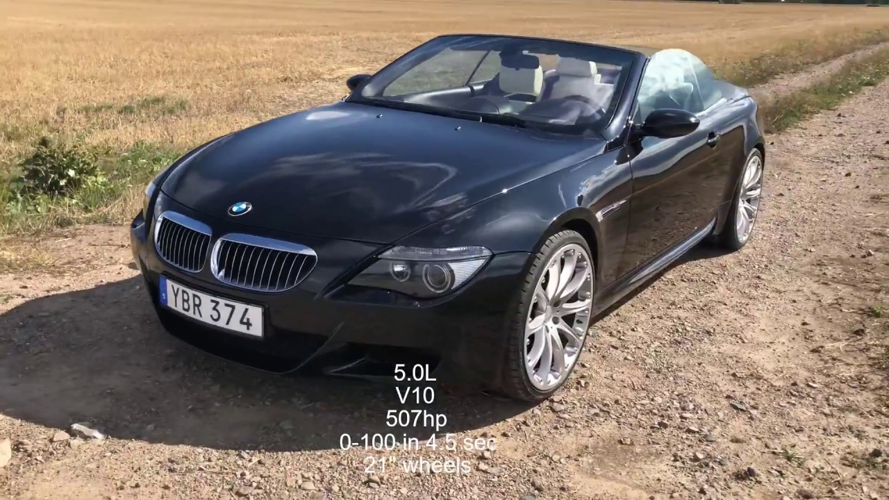 2007 bmw m6 video review and 0-100