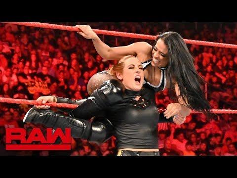 Seth Rollins & Becky Lynch vs. Andrade & Zelina Vega – Tag Team Elimination Match: Raw, July 8, 2019