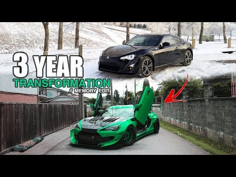3 years in 20 minutes (Complete Custom Widebody FRS Build)