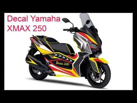 Desain sendiri decal yamaha xmax 250