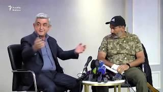 Sarkisyan və aksiyaçıların lideri Paşinyan arasında görüş