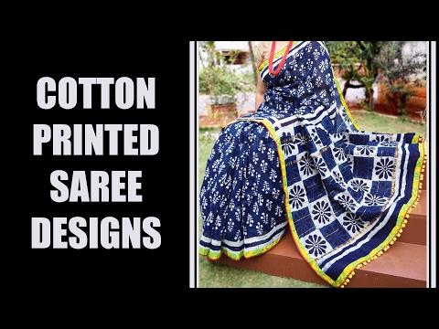 Latest Cotton Printed Saree Designs