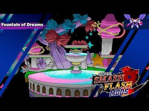 SSF2 Beta mods:Fountain of Dreams +new hazard by GabrielZr0