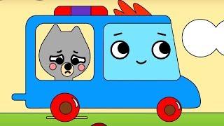Мультфильм про машинки -  Грузовичок Пик - Раскраска - Волчонок воришка