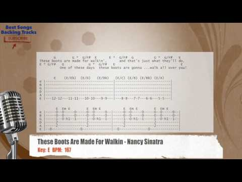 These Boots Are Made For Walkin - Nancy Sinatra Vocal Backing Track with chords and lyrics