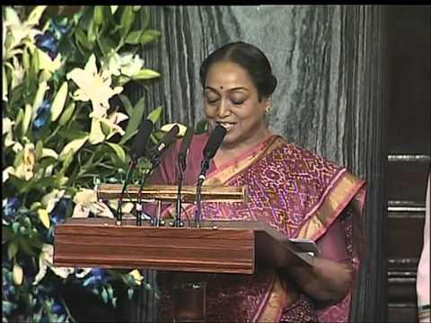 Hon'ble Speaker Smt. Meira Kumar welcomes H.E. Mr. Barack H. Obama, President of USA