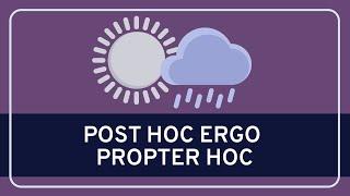 CRITICAL THINKING - Fallacies: Post Hoc Ergo Propter Hoc [HD]