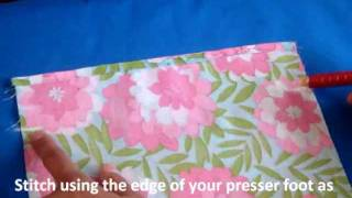 Simple Drawstring Bag Sewing Tutorial