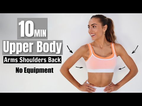 10 MIN Upper Body - Quarantine Workouts | Toned Arms, Back, & Shoulders | Sami Clarke #WithMe