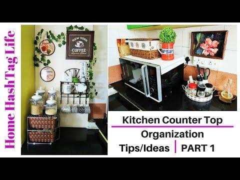 Indian Kitchen Counter Top Organization Ideas ( 6 Tips ) Part 1   Kitchen Tour