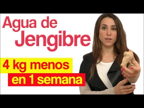 Agua de jengibre para adelgazar hasta 4 kilos en una semana 1 APERDERPESO.COM