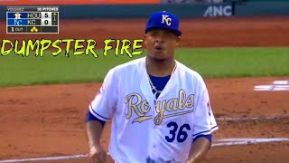 Ace pitchers having Dumpster Fire Innings