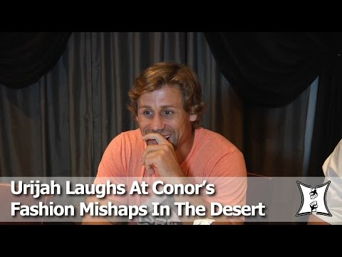 "TUF 22: Urijah Faber Laughs About Conor McGregor's ""Sweaty A** Crack"" & Fashion Mishaps In Vegas"