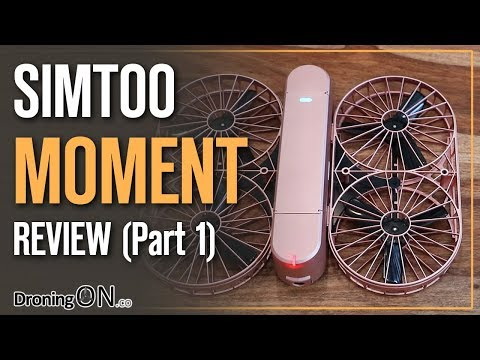 DroningON | SimToo Moment Drone Review (Part 1) - Unboxing, App & Indoor Flight