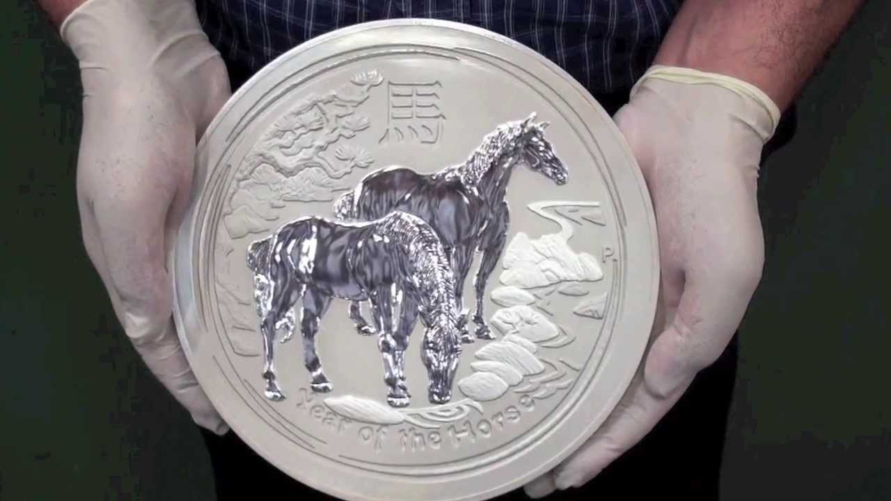 Massive 10 Kilo Silver Coin Celebrates 2014 Year Of The