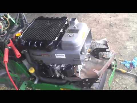 kawasaki fd501v twin 17hp - youtube
