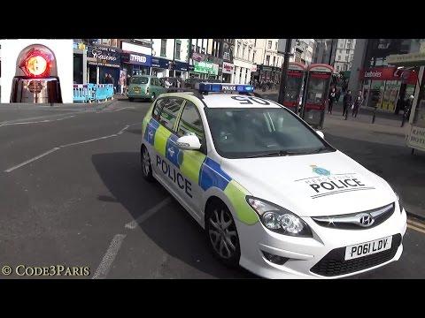 Merseyside Police Car Responding -- U Turn?