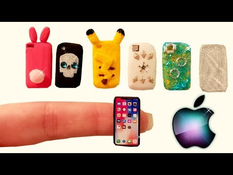 DIY Miniature ✫ Phone Cases and iPhone ✫ Tutorial | Crafts
