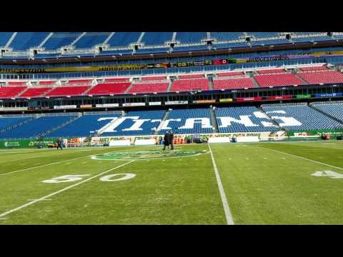 Pregame view inside Nissan Stadium before Music City Bowl