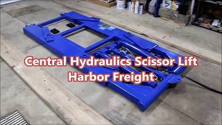 Central Hydraulics Scissor Lift - Harbor Freight - Full Throttle Reviews