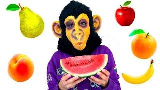 Johny Johny Yes Papa ( Monkey with fruits)  | 동요와 어린이 노래 | 어린이 교육 | Nikki Kids Song