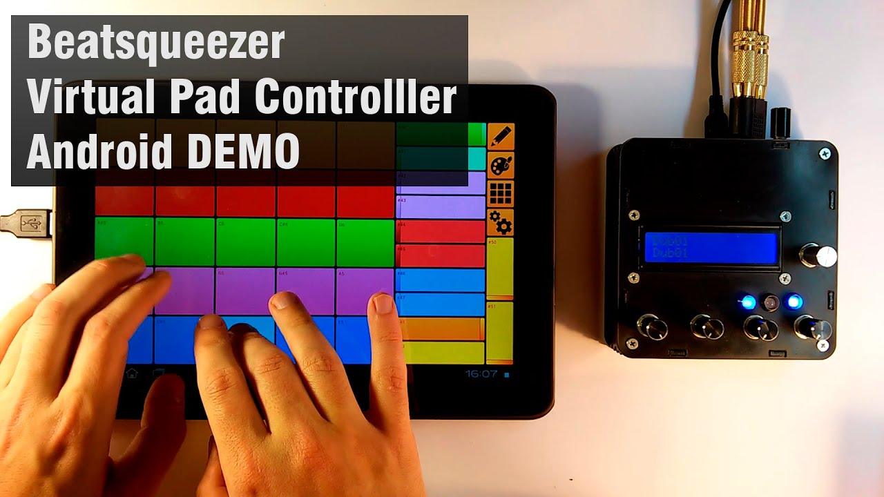 Beatsqueezer Virtual Pad - free 5x5 pads USB-MIDI Controller for Android  4 0+ DEMO