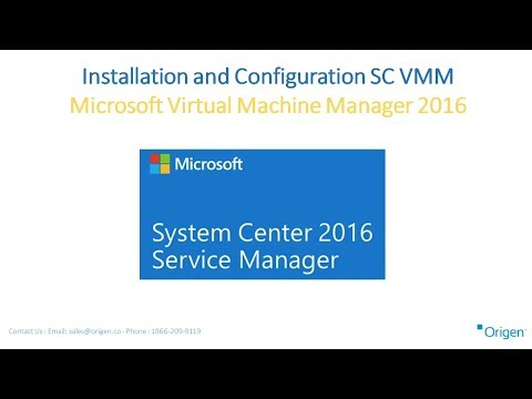 Installation and Configuration SC VMM Microsoft Virtual Machine Manager 2016