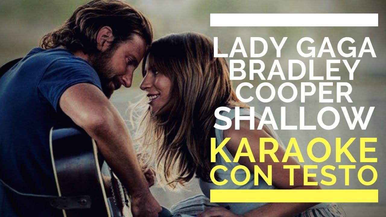 Shallow By Lady Gaga Bradley Cooper Instrumental Version Karaoke Con Testo Youtube