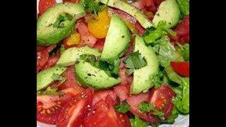 Салат из овощей,секрет в заправке