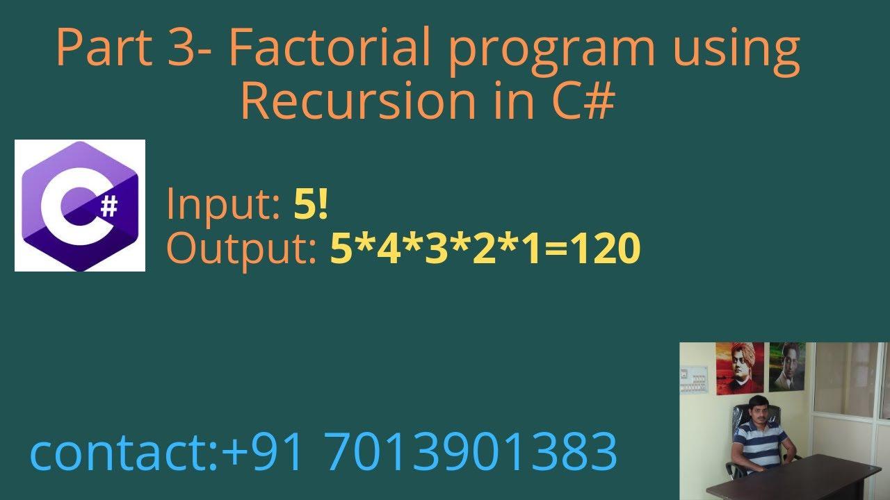 Recursive factorial function in c