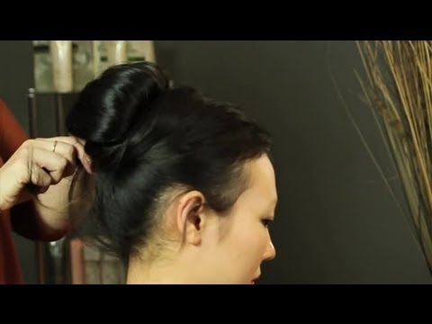 How To Put Your Hair In An Audrey Hepburn Bun : Updos & Hair Styling