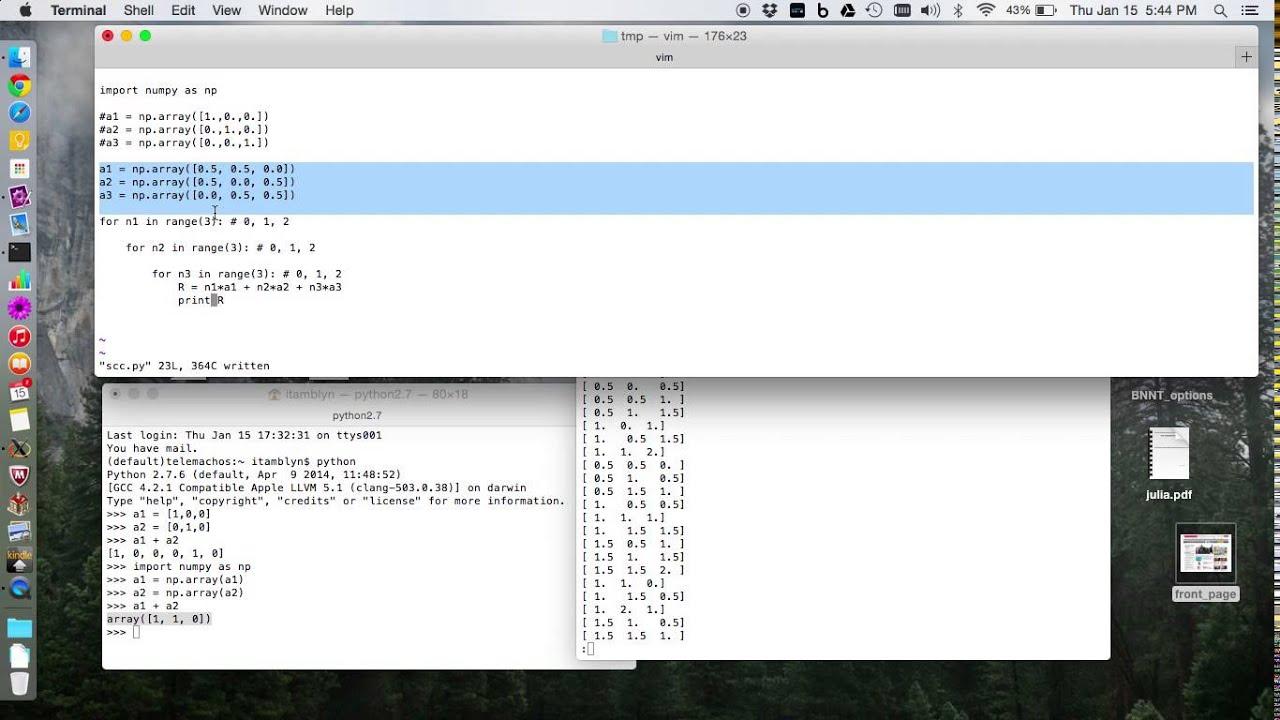Simple cubic python code