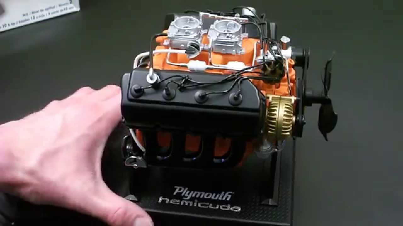 Revell 1 6 Plymouth 426 Hemi Cuda Engine Completed Build