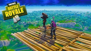 Fortnite Friday Skybridge! - Match 1 vs Ninja and OpTic Courage!