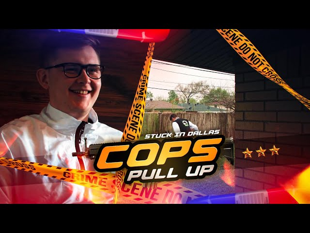 Cops pull up outside the team house?? | Stuck in Dallas Part 3