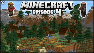 Exploring Our Minecraft World! BEAUTIFUL Villages! | Python Plays Minecraft Survival [Episode 4]