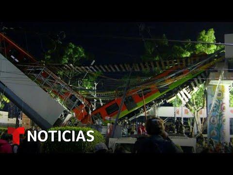 Conmoción en Ciudad de México tras el accidente de metro   Noticias Telemundo