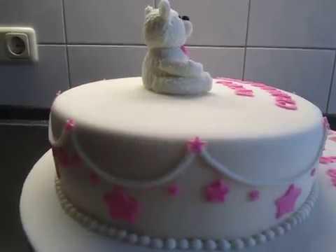 Torte zur Taufe Teddybr Mdchen Tauftorte YouTube