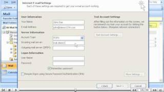 How to configure aฑ email account in Outlook 2007 - Configuring Email Tutorials