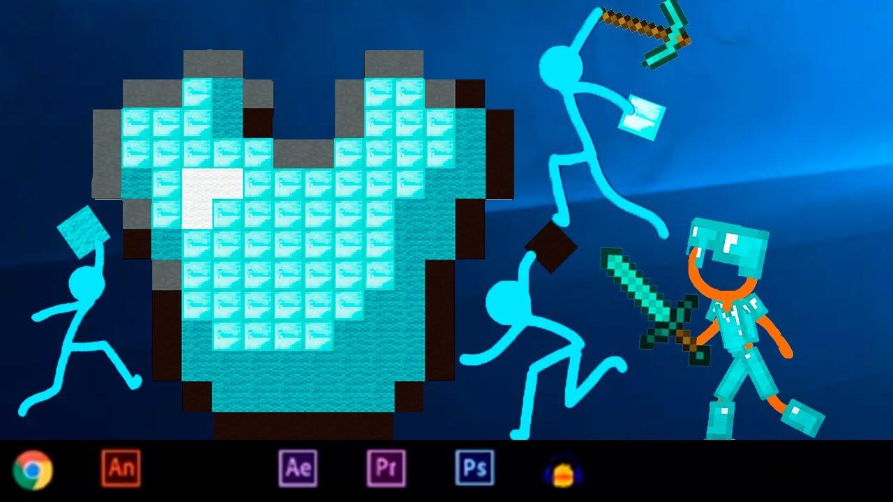 Animation VS Minecraft (Stick Figure) Stickman vs Minecraft stick man Movie