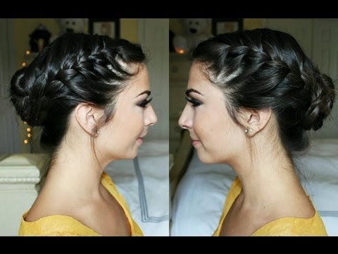Image result for celebrity french braided bun