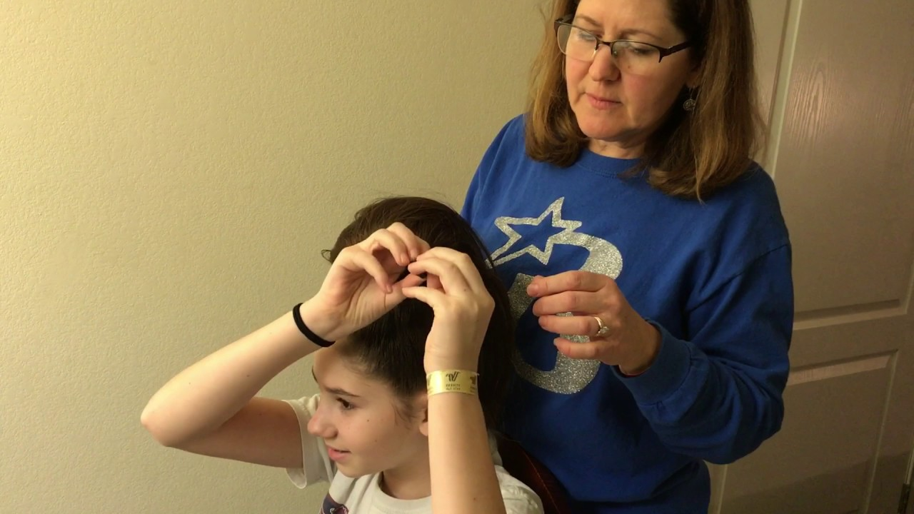 Attaching Cheer Hair From High Ponytail To Bow Youtube