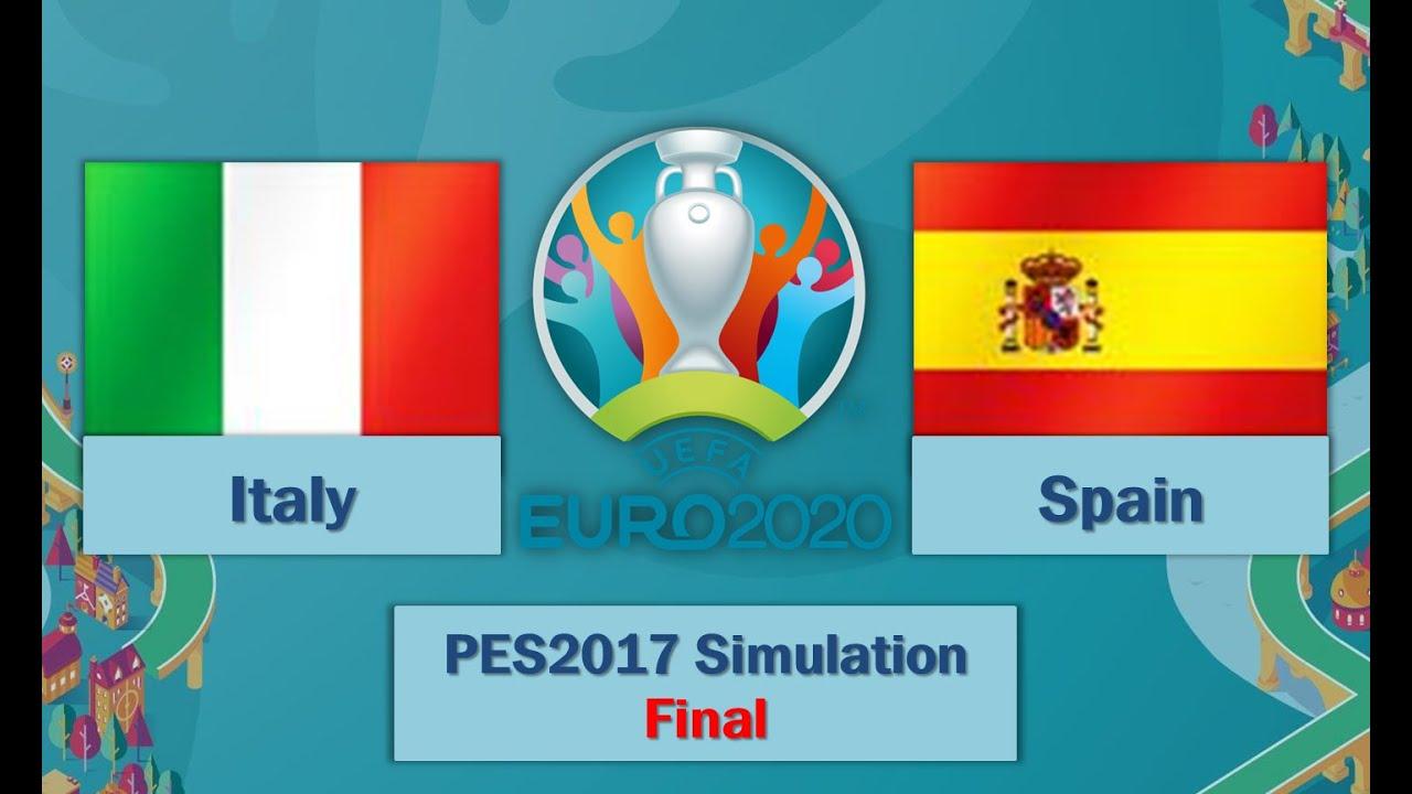 Italy vs Spain | Final | Euro 2020 | PES2017