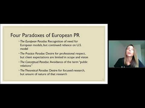 Public Relations in Western Europe and Legacy Countries