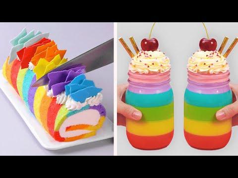 Oddly Satisfying Cake Decorating Compilation | So Yummy Colorful Cake Tutorials | So Easy Cake